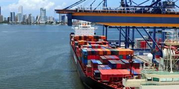 Puerto de mercancías en Colombia