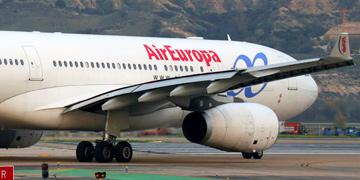 Avión de pasajeros de AirEuropa