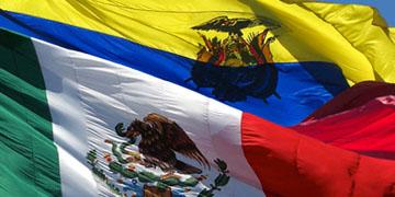 Banderas de Ecuador y México