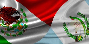 Banderas de México y Guatemala