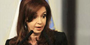 Crsitina Fernández, presidenta de Argentina