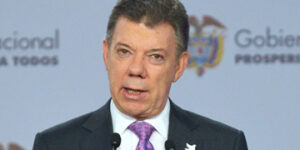 Juan Manuel Santos, presidente de Venezuela