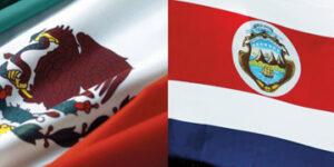 Banderas de México y Costa Rica