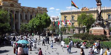 Plaza Murillo de La Paz en Bolivia