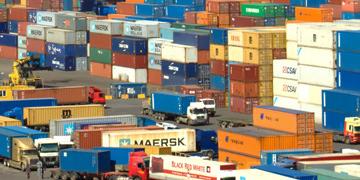 Contenedores con material para exportar