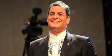 Rafael Correo, presidente de Ecuador