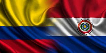 Banderas de Colombia y Paraguay