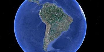 Vista de Latinoamérica desde el espacio