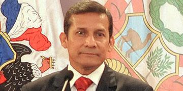 Ollanta Humala, presidente de Perú