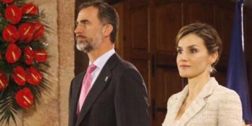 Rey Felipe VI junto a Doña Letizia