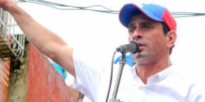 Henrique Capriles, excandidato a la Presidencia de Venezuela