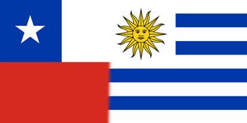 Banderas de Chile y Uruguay