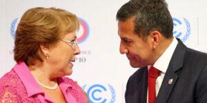 Michelle Bachelet y Ollanta Humala, presidentes de Chile y Perú