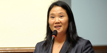 Keiko Fujimori, candidata a la Presidencia de Perú por Fuerza Popular