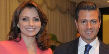 Angélica Rivera junto a Peña Nieto