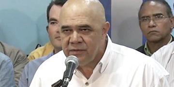 Jesús Torrealba, secretario ejecutivo de la alianza opositora Mesa de Unidad Democrática (MUD)