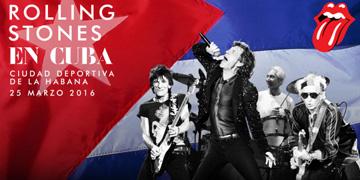 Cartel del concierto de los Rolling Stones en Cuba