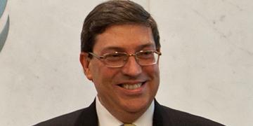 Bruno Rodríguez, ministro de Exteriores de Cuba