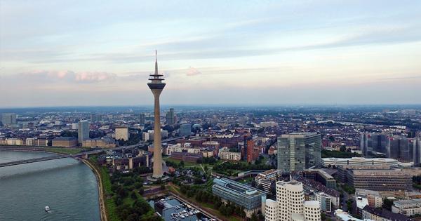 Vista aérea de Düsseldorf