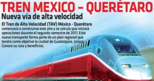 Cartel del proyecto del Tren de Alta Velocidad México-Querétaro