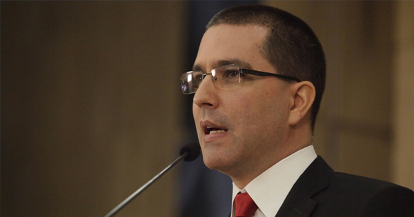 Jorge Arreaza, ministro venezolano de Exteriores