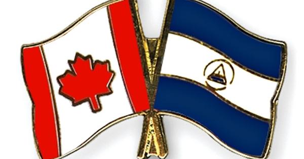 Banderas de Canadá y Nicaragua