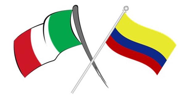 Banderas de Italia y Colombia
