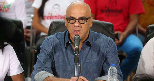 Jorge Rodríguez, jefe de la delegación del gobierno venezolano