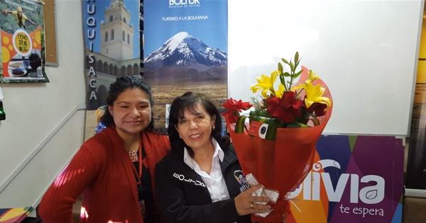 Lourdes Omoya, gerente ejecutiva de la empresa estatal Boliviana de Turismo (Boltur)
