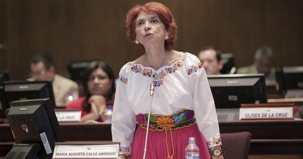 María Augusta Calle, embajadora del Gobierno de Quito en La Habana