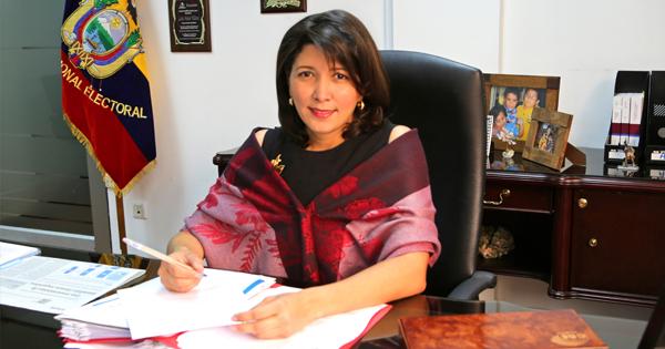 Nubia Villacís, presidenta del Consejo Nacional Electoral (CNE)
