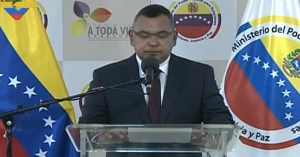 Néstor Reverol, ministro para Relaciones Interiores, Justicia y Paz de Venezuela