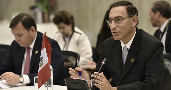 Martín Vizcarra, presidente de la República de Perú
