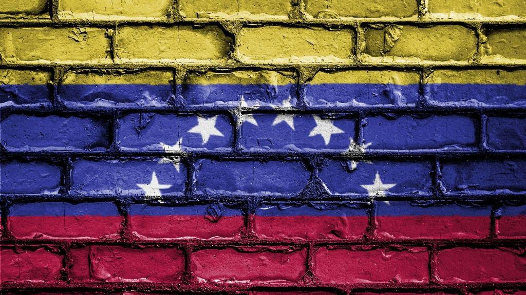 Bandera muro Venezuela