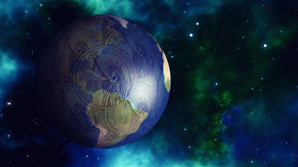 Globo del mundo dólares
