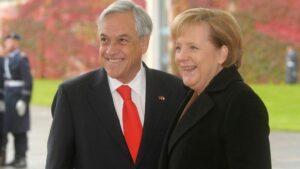 Angela Merkel y Sebastián Piñera