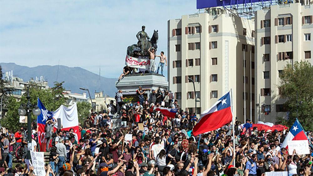 Protestas en Chile de 2019, Plaza Baquedano, Santiago de Chile