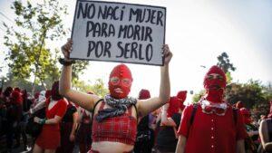 Manifestación feminista Chile