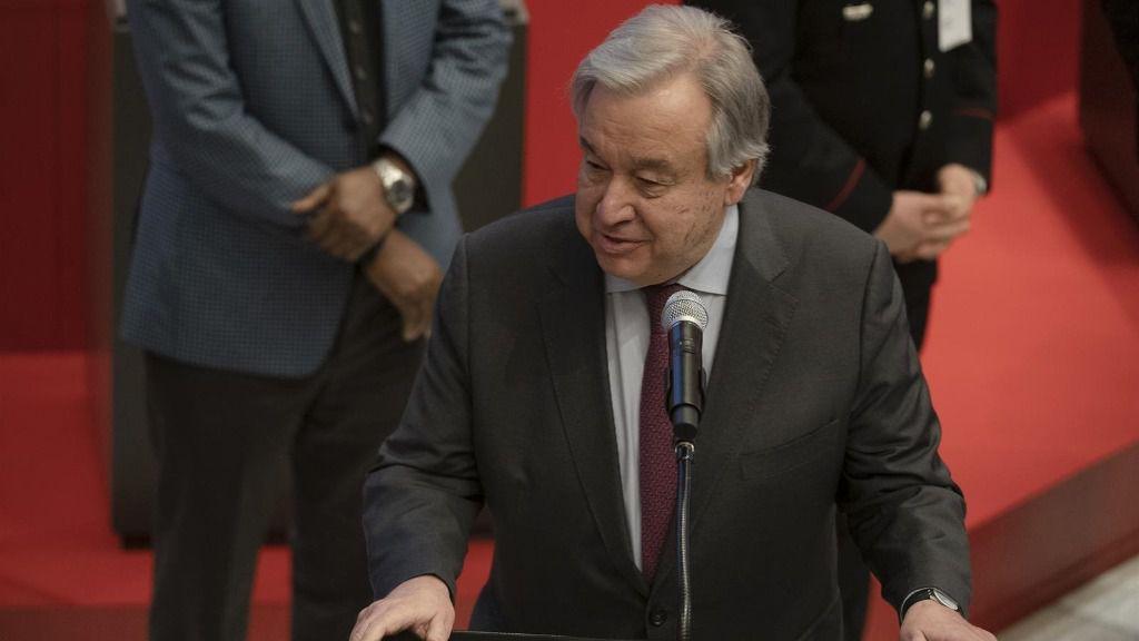 Imagen del secretario general de la ONU, António Guterres