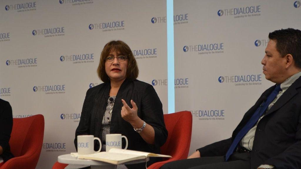 La ex portavoz de la Misión de Apoyo Contra la Corrupción e Impunidad en Honduras (MACCIH), Ana María Calderón
