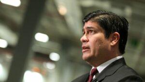 El presidente de la República de Costa Rica, Carlos Alvarado Quesada