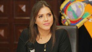 La exvicepresidenta de Ecuador María Alejandra Vicuña