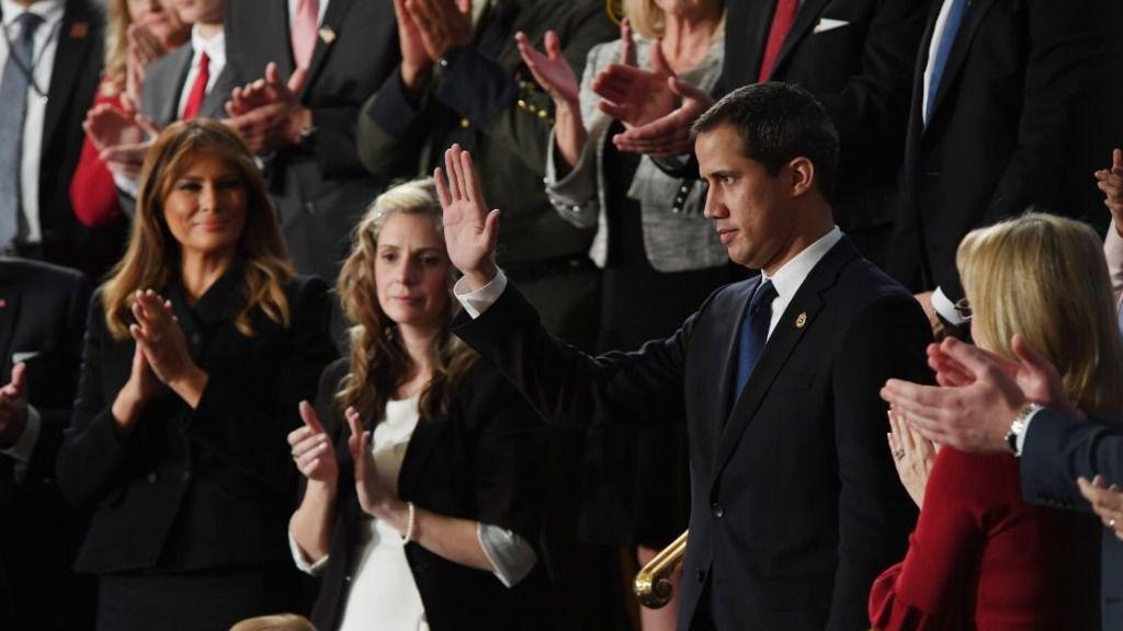 Juan Guaido en el discurso del Estado de la Unión de Donald Trump