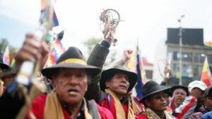 Manifestantes a favor del expresidente de Bolivia Evo Morales