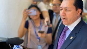 El presidente de la Asamblea Legislativa de El Salvador, Mario Ponce
