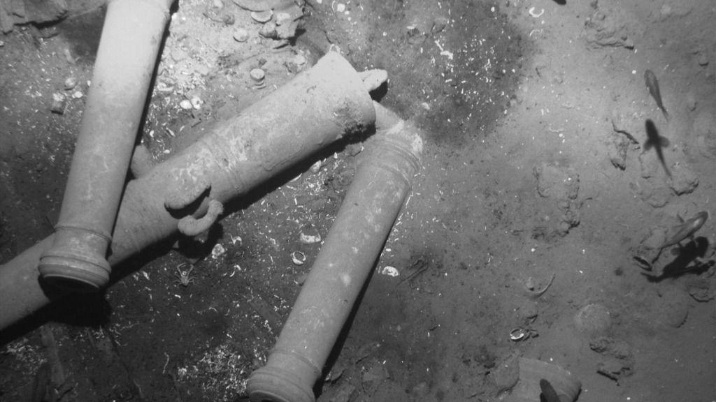 Restos del galeón San José, buque español hundido en el siglo XVIII