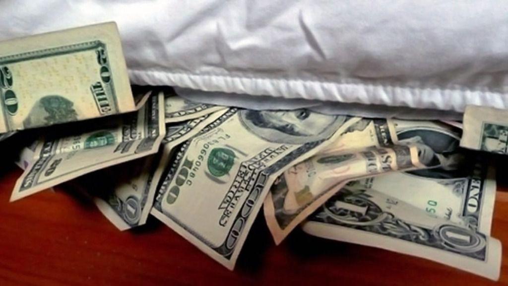 Dólares colchón