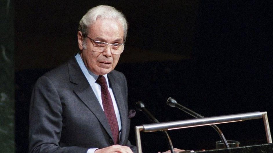 El exsecretario general de la ONU Javier Pérez de Cuéllar