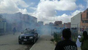 La Policía de Bolivia gasea a manifestantes que protestaban a las puertas del Senado de El Alto