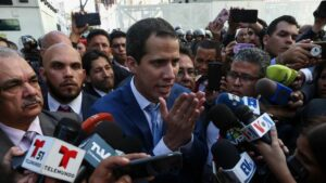 El autoproclamado presidente de Venezuela, Juan Guaidó